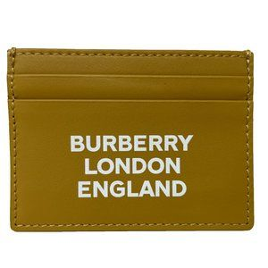 NEW Burberry Light Copper Leather Card Holder